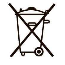 знак отдельной от бытового мусора утилизации