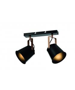 Светильник настенно-потолочный спот Rivoli Acuto 7015-702 2 х Е27 40 Вт поворотный