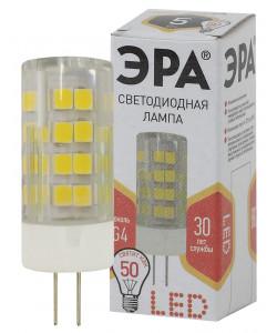 LED JC-5W-220V-CER-827-G4 ЭРА (диод, капсула, 5Вт, тепл, G4) (100/1000/30000)