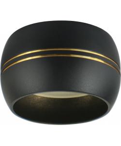 OL13 GX53 BK/GD Подсветка ЭРА Накладной под лампу Gx53, алюминий, цвет черный/золото (40/1440)