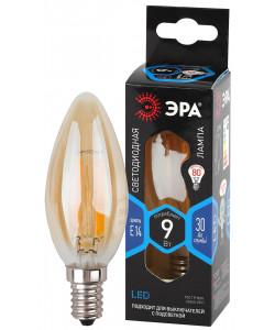 F-LED B35-9W-840-E14 gold ЭРА (филамент, свеча золот, 9Вт, нетр, E14) (10/100/4000)