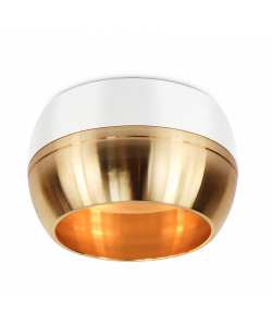 OL14 GX53 WH/GD Подсветка ЭРА светильник накладной под GX53, белый/золото (40/1440)