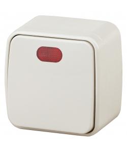 3-102-02 Intro Выключатель с подсветкой, 10А-250В, IP20, ОУ, Polo, сл.кость (18/360/4320)