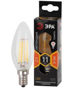 F-LED B35-11w-827-E14 ЭРА (филамент, свеча, 11Вт, тепл, E14) (10/100/5000)