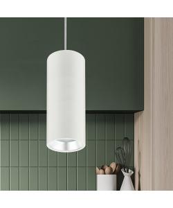 PL12 GX53 WH/SL Подсветка ЭРА Подвесной светильник под лампу GX53, алюминий, цвет белый+серебро (18/