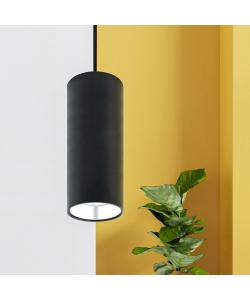 PL12 GX53 BK/SL Подсветка ЭРА Подвесной светильник под лампу GX53, алюминий, цвет черный+серебро (18