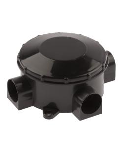 Распаячная коробка ЭРА  KOR-70-35-3-b открытой установки трехрожковая черная IP42