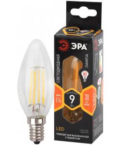 F-LED B35-9w-827-E14 ЭРА (филамент, свеча, 9Вт, тепл, E14) (10/100/3500)