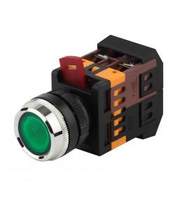 ЭРА Кнопка ABLFS-22 зеленый d22мм неон/240В 1з+1р (10/400/6000)
