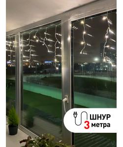 ENIB-01B ЭРА Гирлянда LED Бахрома 1,8 м*0,5 теплый свет 8 режимов 220V, IP20 (100/800)