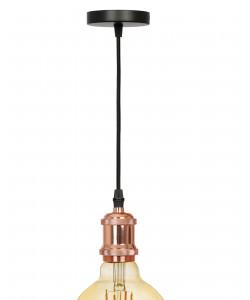 PL13 E27 - 1 RG Подсветка ЭРА Накладной, цоколь Е27, провод 1 м, цвет розовое золото (60/360)