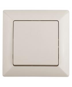 4-101-02 Intro Выключатель, 10А-250В, СУ, Solo, сл.кость (10/200/2400)