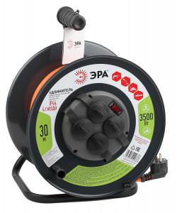 ЭРА Удлинитель силовой RMx-4es-3x1.5-30m-IP44 на м. катушке c/з 4 гн 30м ПВС 3х1.5 (1/33)