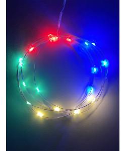 ENIN-2M ЭРА Гирлянда LED Нить 2 м мультиколор, АА, IP20 (120/3840)