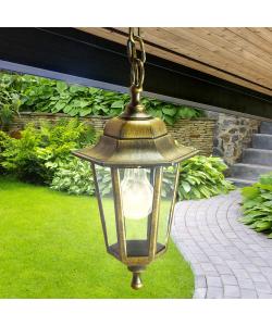 НСУ 06-60-001 бронза ЭРА Светильник садово-парковый Адель1 подвесной шестигранный под бронзу Е27 (8/96)