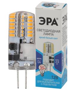 LED-JC-2,5W-12V-SLC-840-G4 ЭРА (диод, капсула, 2,5Вт, нейтр, G4) (20/500/24500)