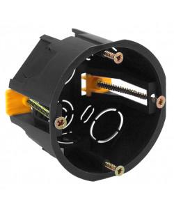 ЭРА Коробка установочн. КУП 68х45мм для полых стен саморез. пласт. лапк. черная IP30 (200/3000)