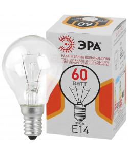 ЭРА ДШ (P45) шар 60Вт 230В Е14 цв. упаковка (100/4900)