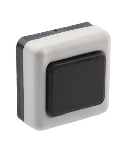 Кнопка дверного звонка ЭРА  D2 проводной, черный, 1 мелодия