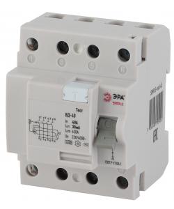 SIMPLE-mod-45 ЭРА SIMPLE Устройство защитного отключения УЗО ВД-40 4P 40А/30мА (электронное) (50/150