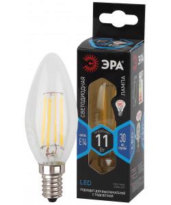 F-LED B35-11w-840-E14 ЭРА (филамент, свеча, 11Вт, нейтр, E14) (10/100/5000)