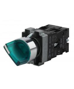 ЭРА Переключатель LAY5-BK2365 2 положения зеленый (20/200/3200)