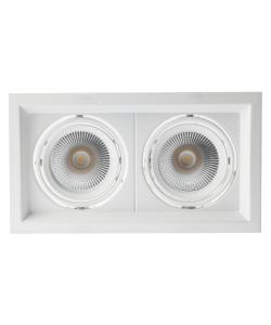 Светильник карданный встраиваемый ЭРА  SKD-12-36-40K-W20 2х20Вт 4000K 3600Лм 270х150х110