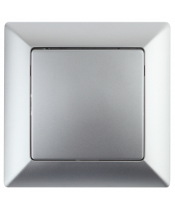4-101-03 Intro Выключатель, 10А-250В, СУ, Solo, алюминий (10/200/2400)