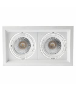 Светильник карданный встраиваемый ЭРА  SKD-12-36-40K-W09 2х9Вт 4000K 1620Лм 225х130х100