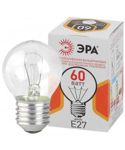 ЭРА ДШ (P45) шар 60Вт 230В Е27 цв. упаковка (100/4900)