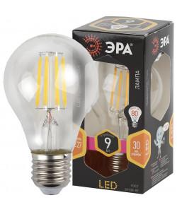 F-LED A60-9W-827-E27 ЭРА (филамент, груша, 9Вт, тепл, Е27) (10/100/2000)