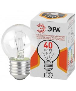 ЭРА ДШ (P45) шар 40Вт 230В Е27 цв. упаковка (100/4900)