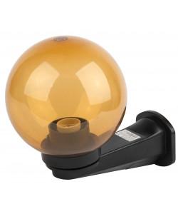 НБУ 01-60-203 ЭРА Светильник садово-парковый шар золотистый с настенным крепежом D200mm Е27 (2/60)