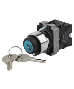 ЭРА Переключатель LAY5-BG45 на 2 положения с ключом без фиксации (20/200/4000)