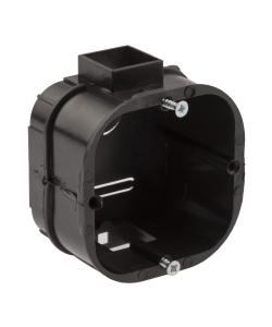 Коробка установочная ЭРА  KUTS-60-60-43-s-black усиленная для твердых стен саморезы стыковочные узлы черная IP20