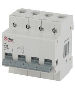 SIMPLE-mod-68 ЭРА SIMPLE Выключатель нагрузки 4P 25А ВН-29 (3/45/900)