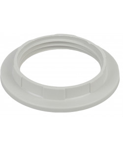 ЭРА Кольцо для патрона E27, пластик, белое (100/1000/9000)