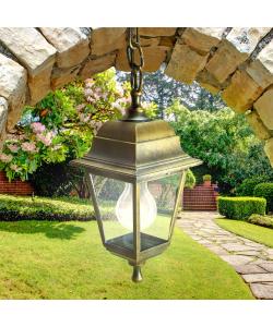 НСУ 04-60-001 бронза ЭРА Светильник садово-парковый Адель подвесной четырехгранный под бронзу Е27 (8