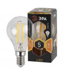 F-LED P45-5W-827-E14 ЭРА (филамент, шар, 5Вт, тепл, E14) (10/100/3000)