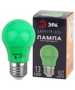 ERAGL50-E27 ЭРА LED A50-3W-E27 ЭРА (диод. груша зел., 13SMD, 3W, E27, для белт-лайт) (10/100/3600)