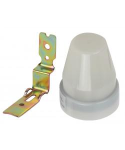 Датчик освещенности ЭРА  DF 302 Фотореле серый, настенный, максимальная нагрузка 2200 ВА IP44 (100/1800)