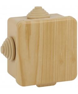 ЭРА Коробка распаячн. открытой установки КОР (сосна) 100х100х50мм с гермовводами 8 вх. IP54 (18/648)