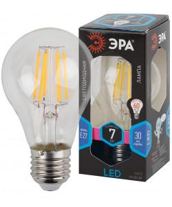 F-LED A60-7W-840-E27 ЭРА (филамент, груша, 7Вт, нейтр., Е27) (10/100/1500)
