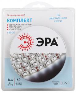 ЭРА Комплект светодиодной ленты 5050kit-14,4-60-12-IP20-6500-5m (50/300)