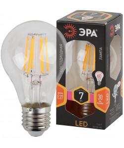 F-LED A60-7W-827-E27 ЭРА (филамент, груша, 7Вт, тепл, Е27) (10/100/2000)