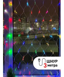 ENIS-01R ЭРА Гирлянда LED Сеть 1,8 м*1,5 м RGB, 220V, IP20 (60/720)