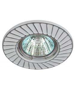 ST6 CH/WH Светильник ЭРА штампованный MR16,12V/220V, 50W белый/хром (100/2800)