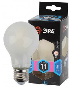 F-LED A60-11W-840-E27 frost ЭРА (филамент, груша мат., 11Вт, нейтр, Е27) (10/100/1500)