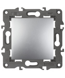 14-1103-03 ЭРА Переключатель, 10АХ-250В, IP20, Эра Elegance, алюминий (10/100/3000)