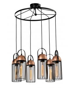Светильник подвесной (подвес) Rivoli Anemon 5062-206 6 х E27 40 Вт лофт - кантри